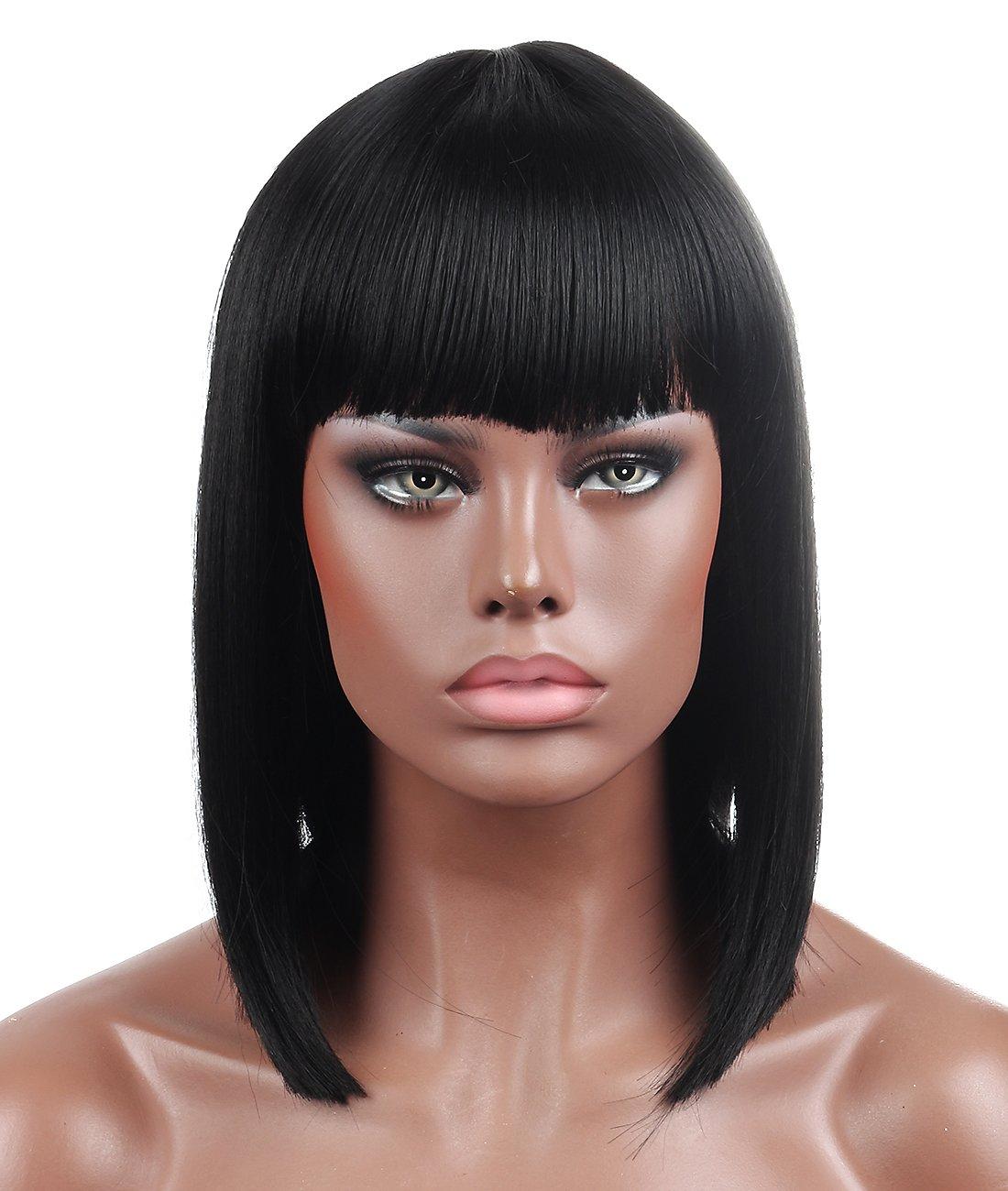 Kalyss Bob Short Hair Wig for Black Women Heat Resistant Yaki Synthetic  Hair Women s Wig With 81e1005ec4
