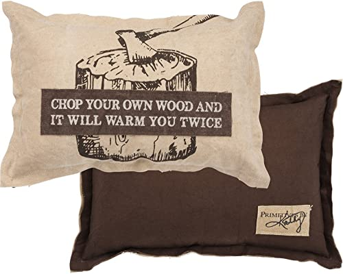 Primitives by Kathy Decorative Chop Your Own Wood Canvas Throw Pillow, 15 x 10-Inch