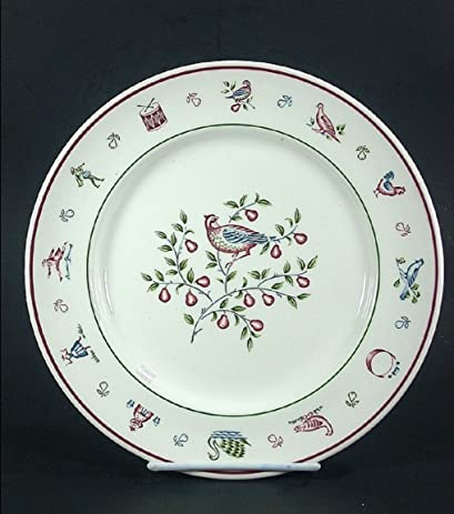 Twelve Days of Christmas Dinner Plate Partridge in Pear Tree : xmas dinner plates - pezcame.com