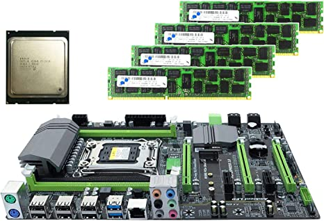 SODIAL X79 Placa Base LGA2011 Combo con E5 2620 CPU 4-Ch 16 GB (4 ...