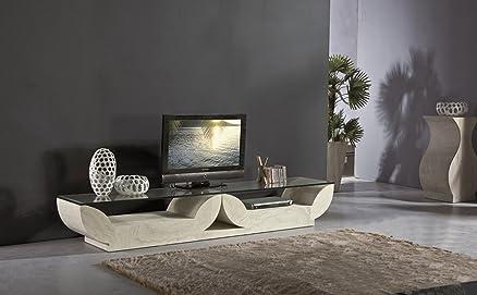 L03-C013 MOBILE TV DESIGN MODERNO SALOTTO SOGGIORNO TRAVERTINO ...