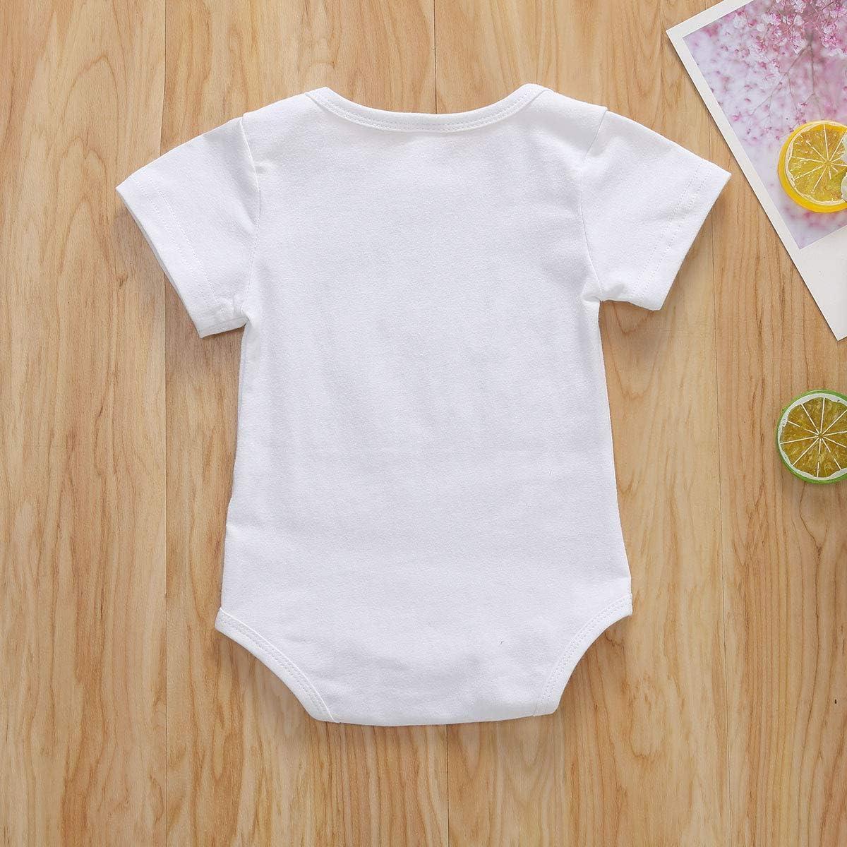 hujukuludusu Funny Sayings Printed Onesies Baby Girl Boy Bodysuit Cotton Short Sleeve Romper