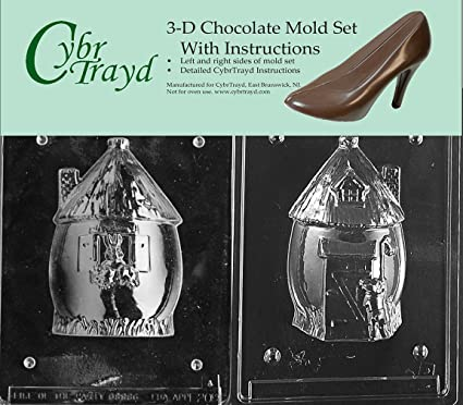 Amazon Com Cybrtrayd E208ab Chocolate Candy Mold Includes 3d
