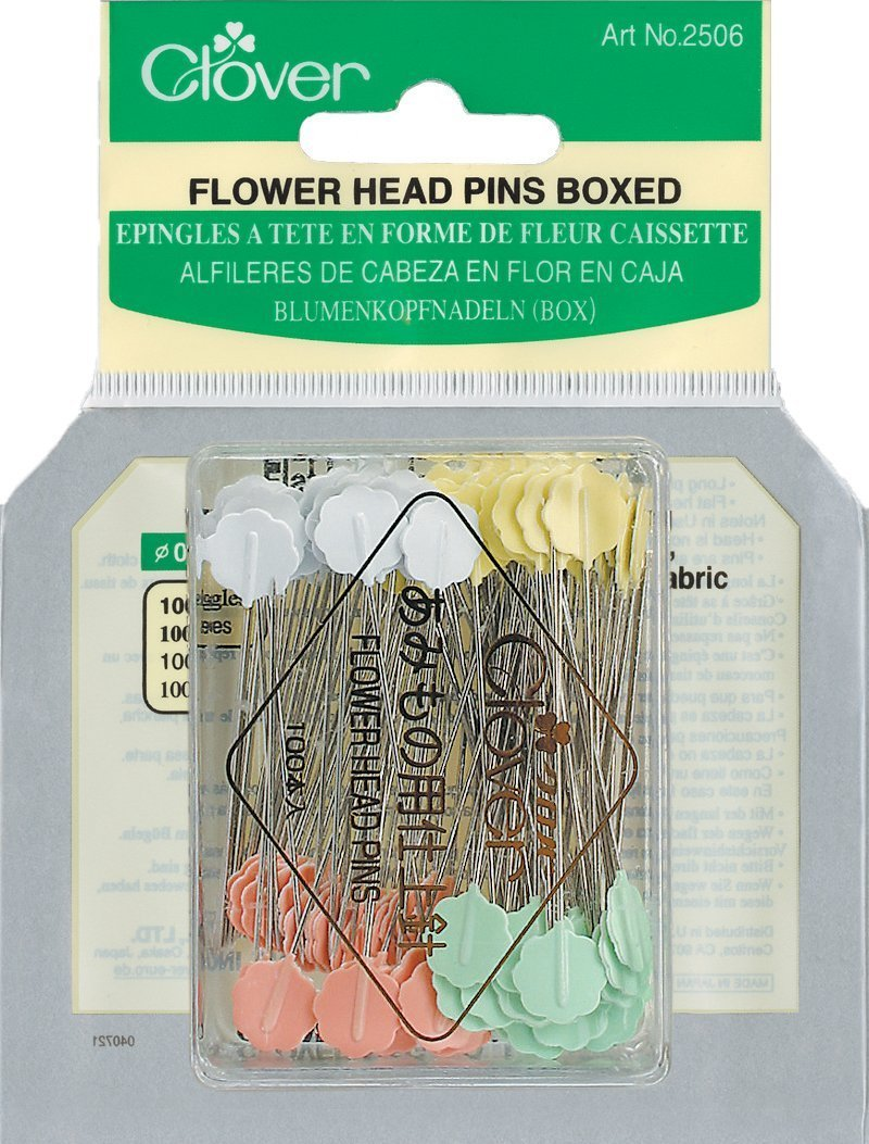 2 x Clover Flower Head Pins Boxed, 100 Per Pack