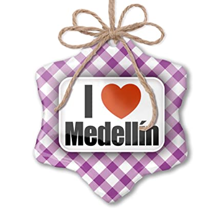 Christmas In Colombia South America.Amazon Com Neonblond Christmas Ornament I Love Medellin