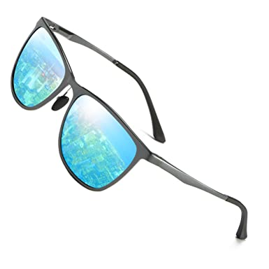 Hat Panda Polarized Driving Wayfarer Sunglasses Sport Al-Mg Metal Frame Ultra Light (Blau) kJ4TOZ