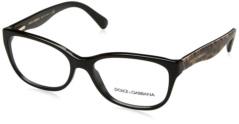 ad6c3f30dd8 New Dolce Gabbana D G DG 3136 2525 Black Brown Leopard Frame Plastic  Eyeglasses  Dolce Gabbana  Amazon.co.uk  Clothing