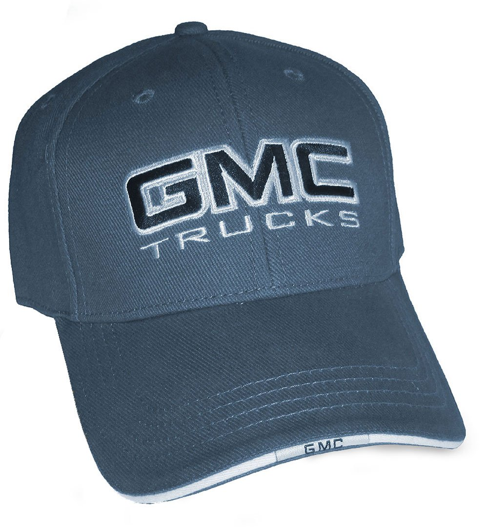 Bundle with Driving Style Decal Gregs Automotive GMC Trucks Hat Cap Blue