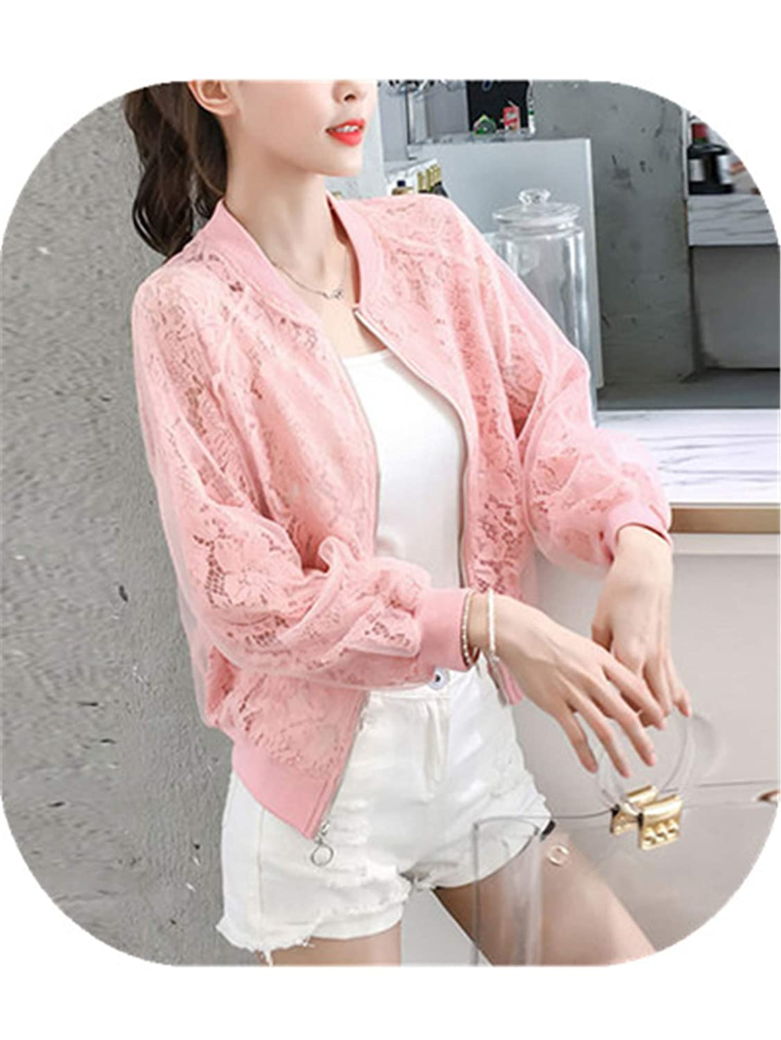 Amazon.com: Harajuku Style Summer Organza Thin Jacket Women ...