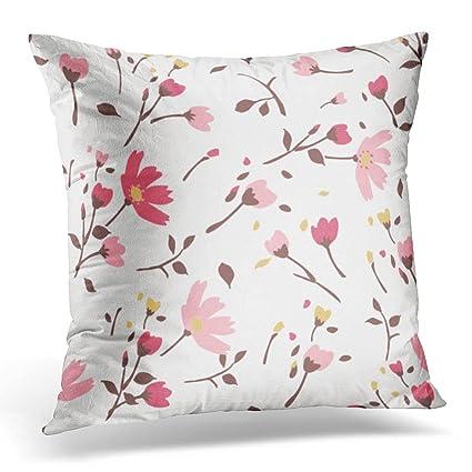 Amazon Emvency Throw Pillow Cover Blue Flower Summer Tiny Extraordinary Tiny Decorative Pillows