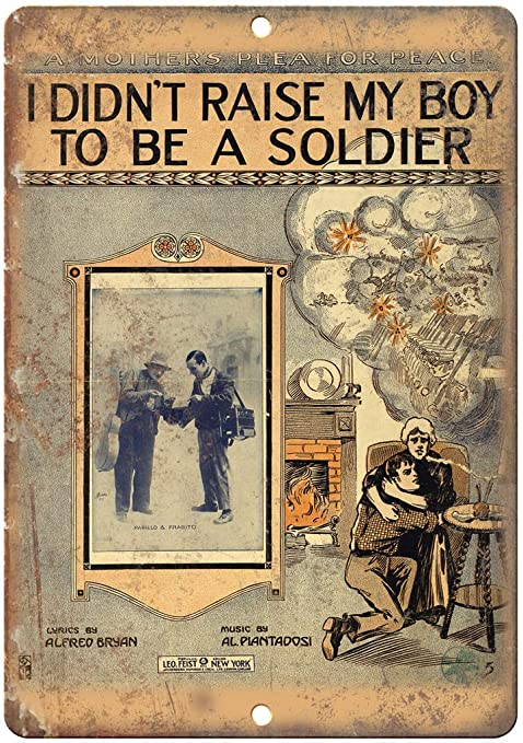 Shunry My Boy to be a Soldier Placa Cartel Vintage Estaño ...