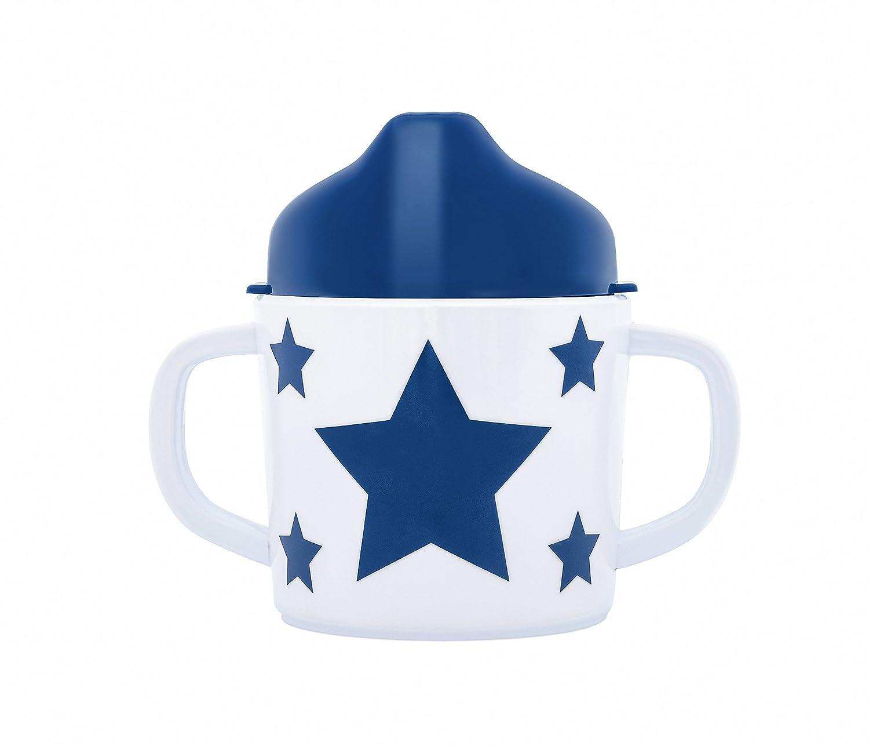 pimpalou 0180317 Melamin Kinder Trinklerntasse Sterne dunkelblau