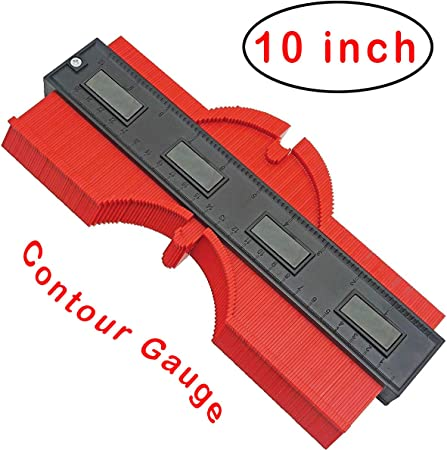 5pcs Contour Gauge Duplicator 4.7 Inch with Magnet Tool Instant Template Red