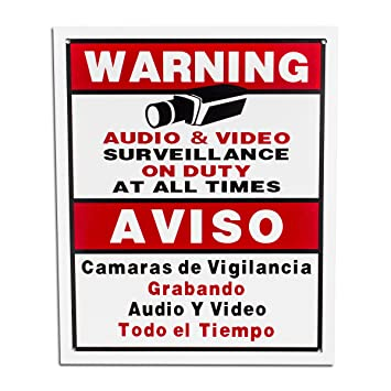 BV-Tech SIGN-F Best Vision 12 x 16 Security Surveillance Warning Sign for