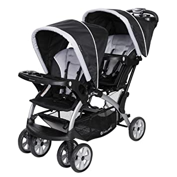Baby Trend Sit N Stand Infant Toddler Twin Tandem 2 Seat Double Stroller Stormy