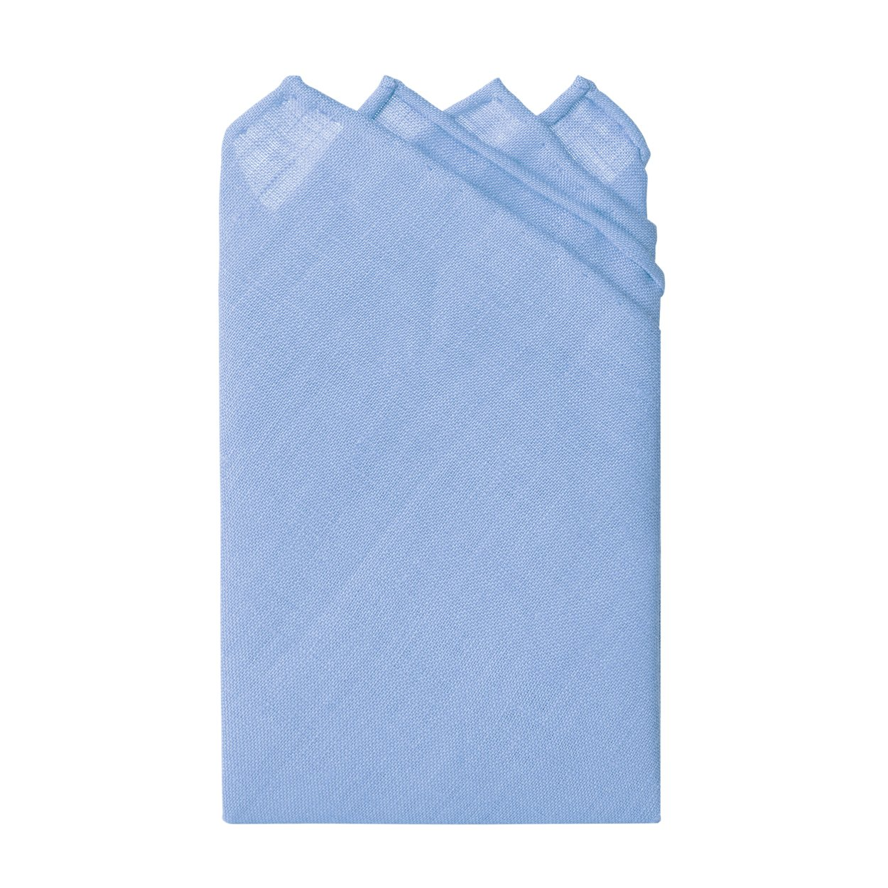 Jacob Alexander Linen Handrolled 15'' x 15'' Pocket Square Hanky - Baby Blue