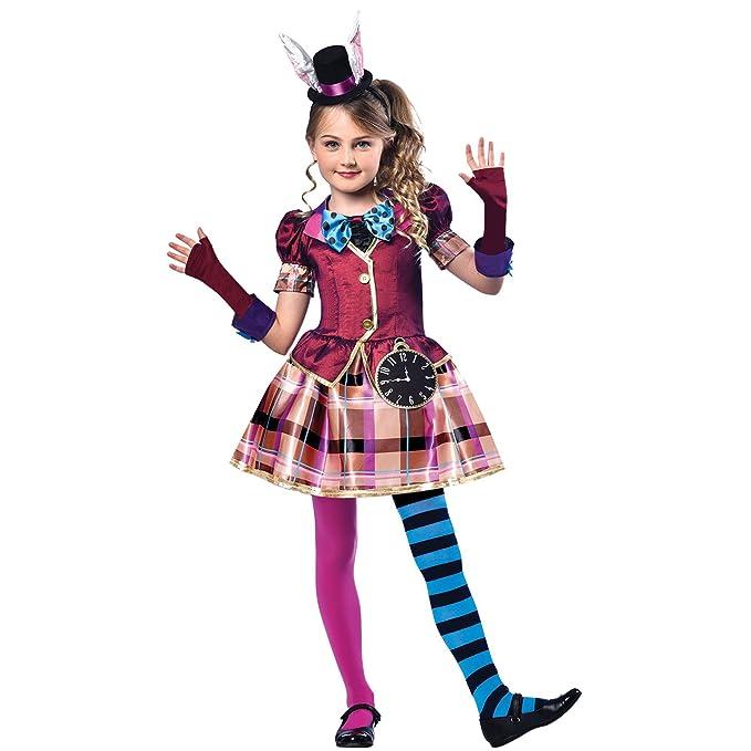 fraulein hutmacher verruckter hutmacher alice im wunderland kostum madchen amazon de bekleidung