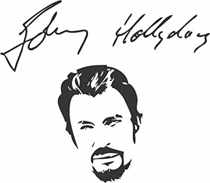 Decooo Be Sticker Mural Johnny Hallyday Sticker Noir Amazon Fr Cuisine Maison
