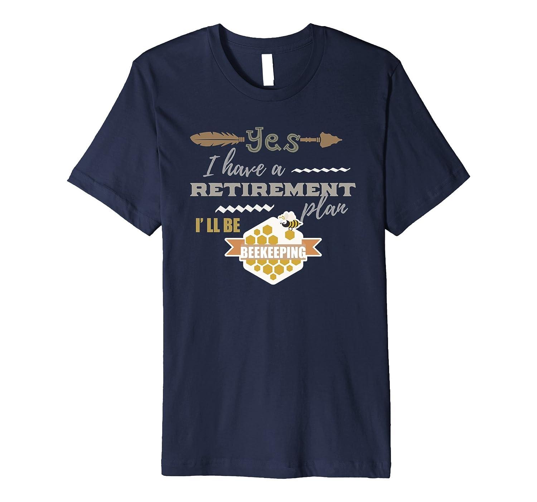 Grandpa t-shirt Retirement plan I'll be beekeeping funny tee-TH