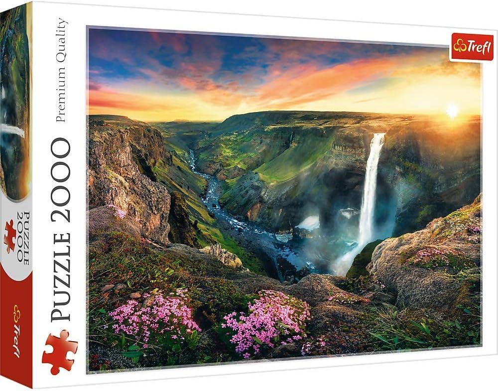 Trefl 2000 Piece Jigsaw Puzzle, Háifoss Waterfall, Iceland