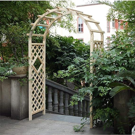 XLOO Garden Arch, Wood Arbor Arch Outdoor Trellis, Abeto Natural ...