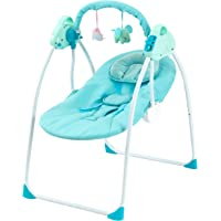 Portable with Three-Speed Speed Regulation Soothing Swing-Blue