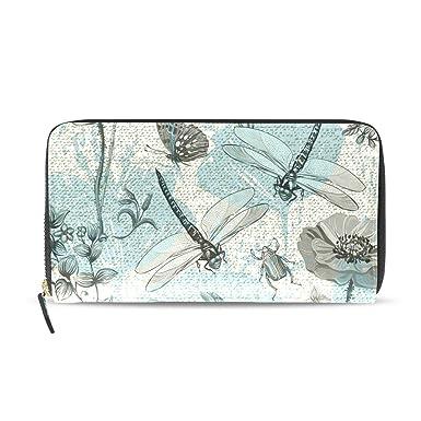 Butterflies large zip around purse