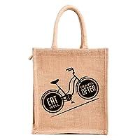 H&B Multipurpose Waterproof Jute Lunch Bag For Unisex -Medium Size