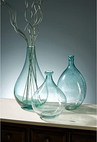 IMAX 63024 Amadour Bubble Glass Bottle – Small Sized Glass Jar, Decorative Vase for Dining Hall, Living Room, Hotels. Decorative Accessories