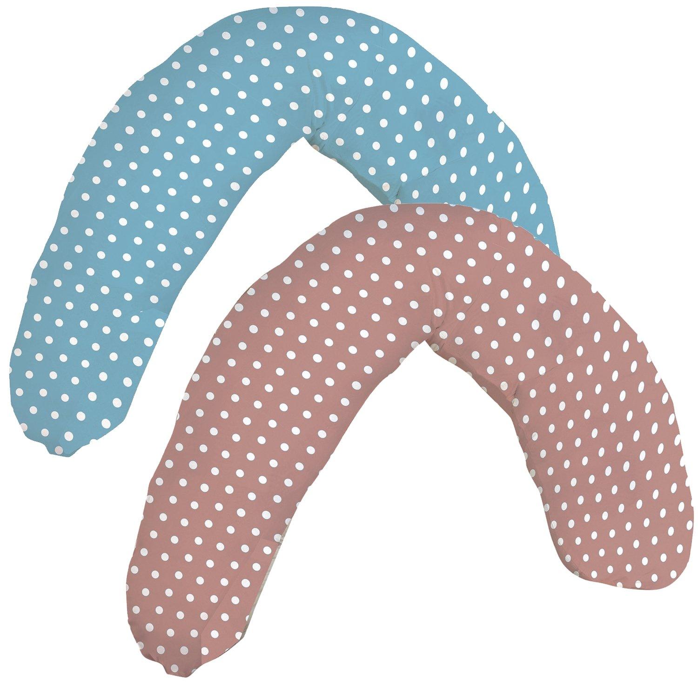 7dreams® Qualitäts Baby Stillkissen Schwangerschaftskissen Apricot XL 190 x 28cm - Bezug 100% Baumwolle, Füllung 425g 100% Polystyrolkügelchen - sehr weich und angenehm - Stützkraft leicht regulierbar durch Reißverschluss