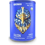 Birdman Falcon Protein, Vegan Protein Powder 1.38lb, 21 Servings, Vanilla, Organic, Plant-Based, Raw, Gluten Free, No Sugar Added, Low Carb, Non-GMO, Non Dairy, Lactose Free, Soy Free, Drink Mix