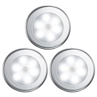 VicTsing Luz Nocturna con Sensor Movimiento a Pilas (3PCS con 18 LEDs), Luz