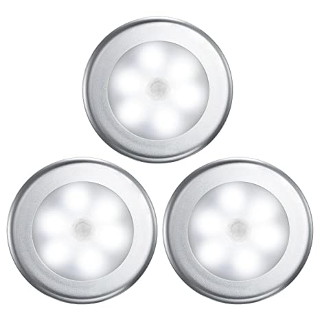 Luz Nocturna con Sensor Movimiento, VicTsing Luces LED Armario con Auto Encendido/Apagado,
