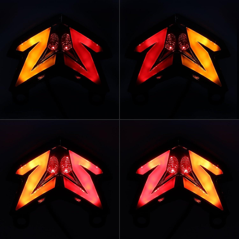 Amazon.com: Luces traseras LED secuenciales integradas ...
