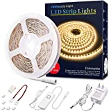 Led Strip Lights 16.4 Feet Dimmable Warm White Led Light Strip Flexible Led Rope Lights 12v Under Cabinet Lighting Kits with