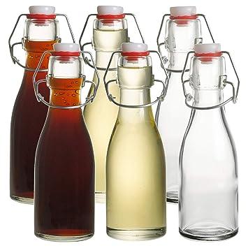 Aceitera y vinagre botellas de vidrio con tapa abatible 150 ...