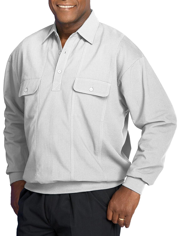 Cheap harbor bay big tall long sleeve mesh panel banded for Big and tall shirts cheap