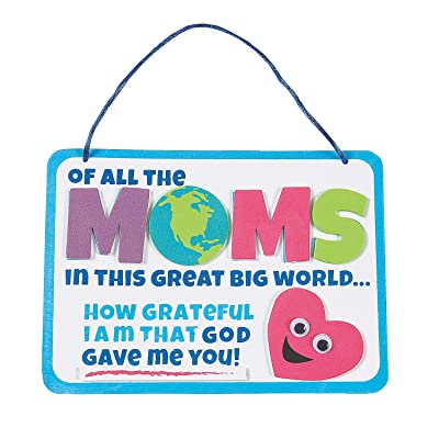 Religious Mother's Day Sign Craft Kit - Crafts for Kids and Fun Home Activities: Toys & Games