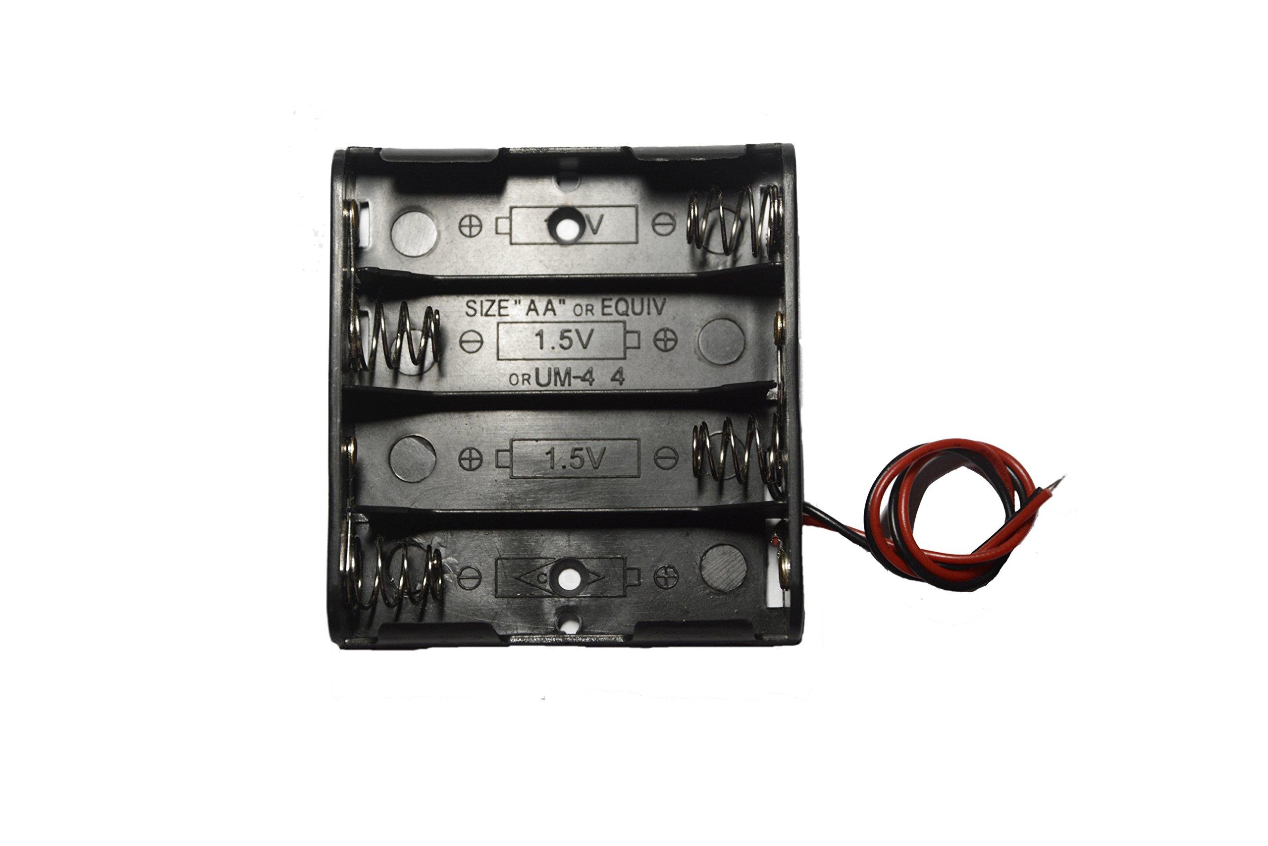 WAYLLSHINE 6 Pcs 4 x 1.5V (6V) AA Battery Spring
