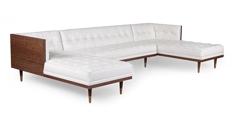 Amazon.com: Kardiel Woodrow - Sofá seccional de piel de ...