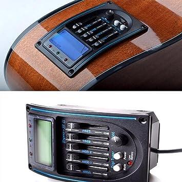 gaddrt guitarra preamplificador eqlc eléctrico acústico 5-Band EQ Ecualizador Guitarra Preamplificador sintonizador: Amazon.es: Deportes y aire libre