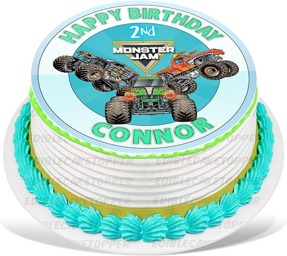 Wondrous Amazon Com Partyprint Monster Truck Grave Digger Max D El Toro Funny Birthday Cards Online Alyptdamsfinfo