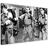 "BLACK AND WHITE GHOST BUSTERS FILM POSTER FRAMED PRINTS CANVAS PICTURES WALL ART MOVIE PHOTOS SIZE: A3 - 16"" X 12"" (40CM X 30CM)"