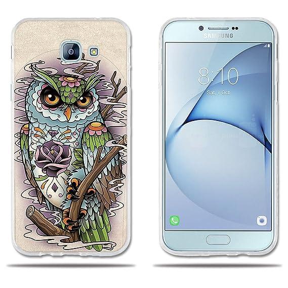 meet 873be ad421 Amazon.com: Samsung Galaxy A8 Case Cute Cartoon Drawing of Owl ...