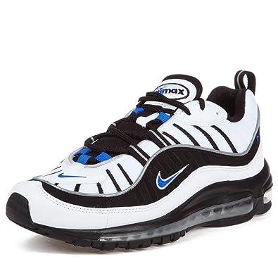 quality design 8ffe6 71ede Nike Air Max 98 - White/Hyper Cobalt-Black-Metallic Silver ...