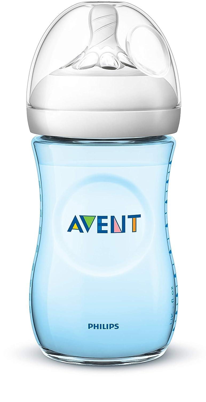 Anti-Kolik-System,blau 260 ml 2er Pack naturnahes Trinkverhalten Philips Avent Natural Flasche SCF035//27