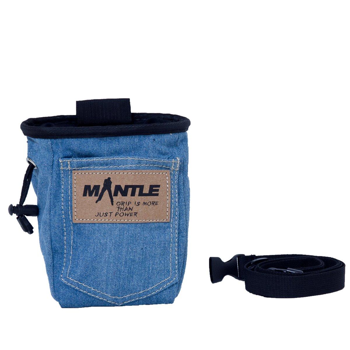 Mantle Kletterzubehör Chalk Bag - Bolsa de magnesio para Escalada, Talla One Size 3001