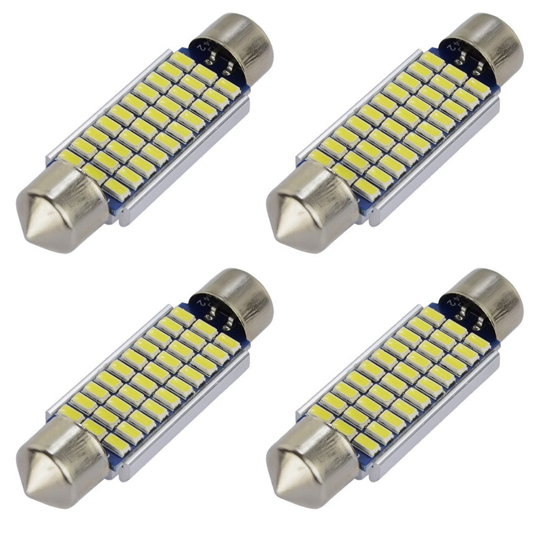T10 168 Led Car Bulb - Safego 2825 194 W5W 8SMD 3528 1210 LED Light Replacement Bulb For Car Exterior Instrument Side Marker Parking Xenon White 6000K DC 12V pack of 10 XD