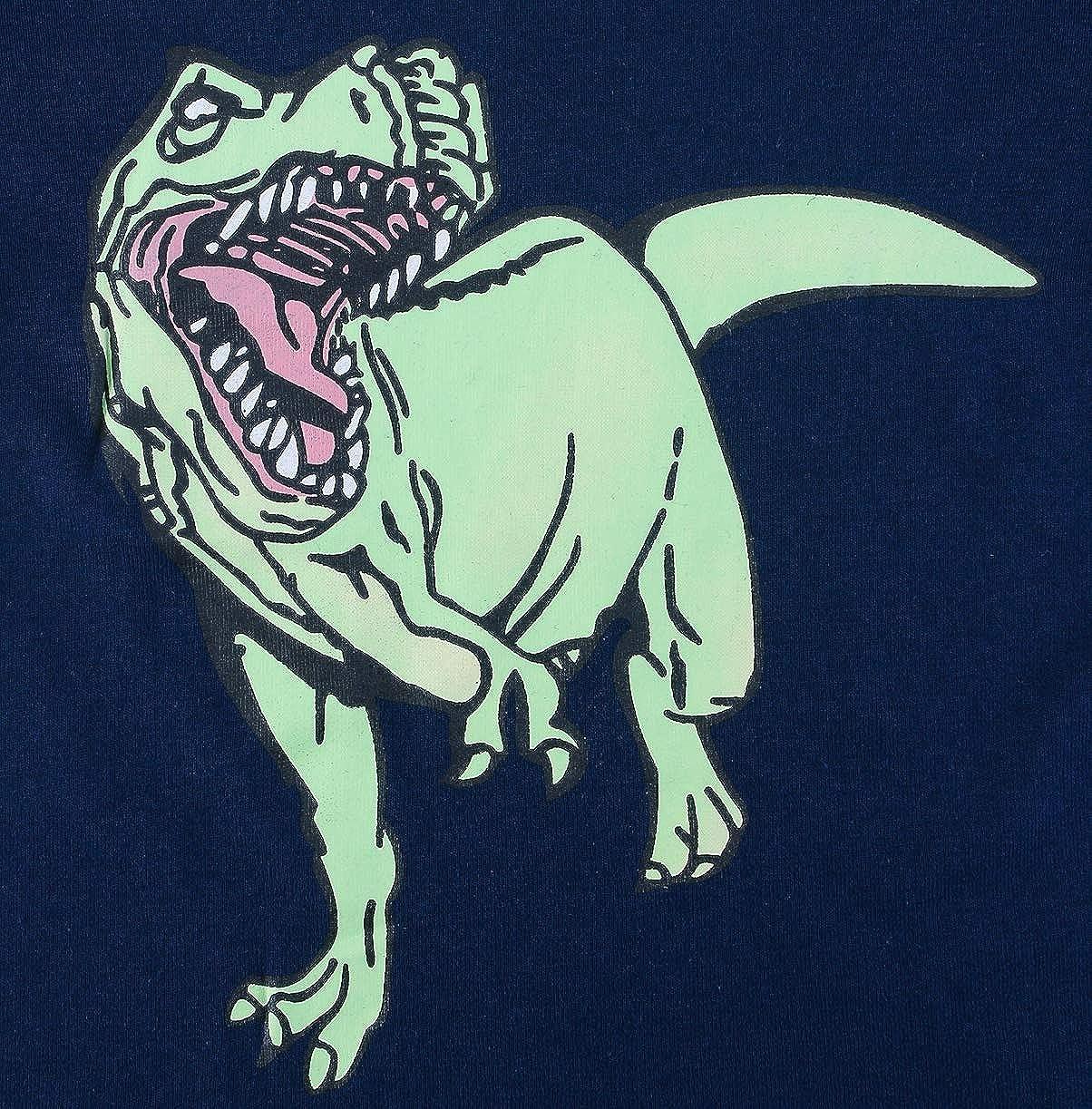 HIKIDS Pigiama da Dinosauro Squalo Shark per Ragazzi Pigiama a Maniche Lunga per Ragazzo 100/% di Cotone dai 2 ai 8 Anni