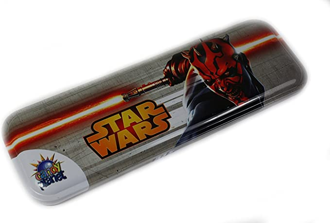 Estuche de metal de Star Wars (Darth Maul): Amazon.es: Oficina y papelería